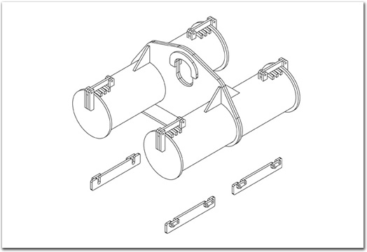 Frame Assembly - Pipe Roller Cradle