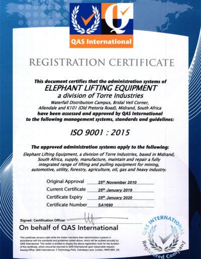 ISO Cert 2019